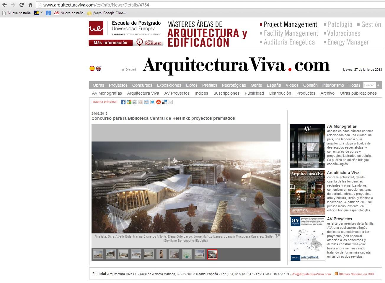 Arquitectura viva suma arquitectura for Av arquitectura viva